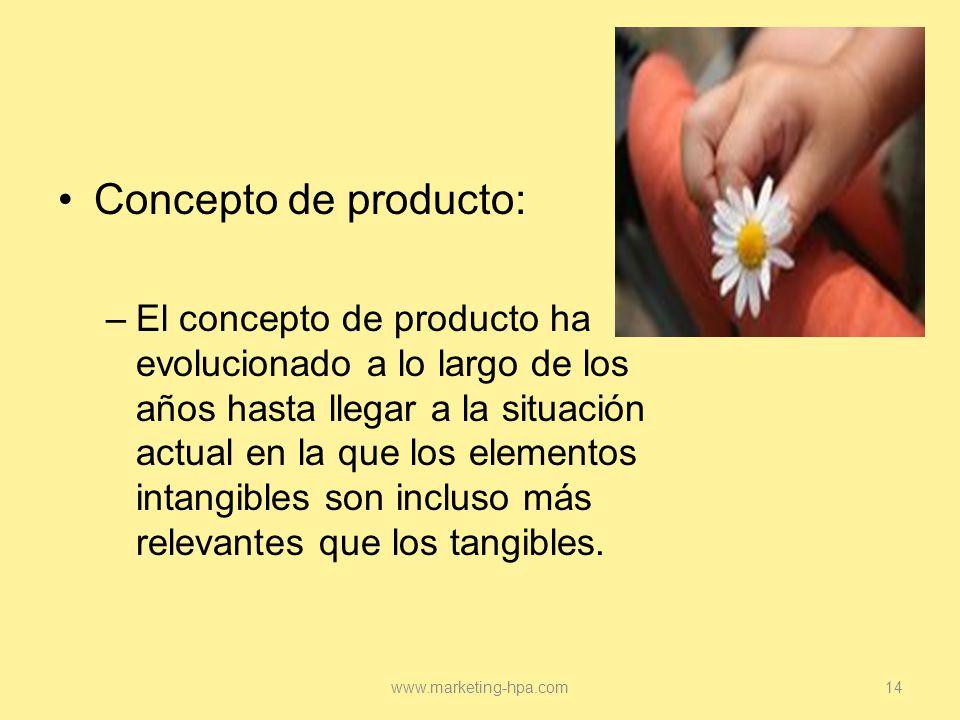 Concepto de producto: