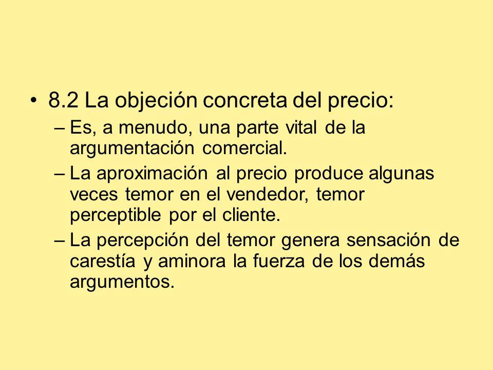 8.2 La objeción concreta del precio:
