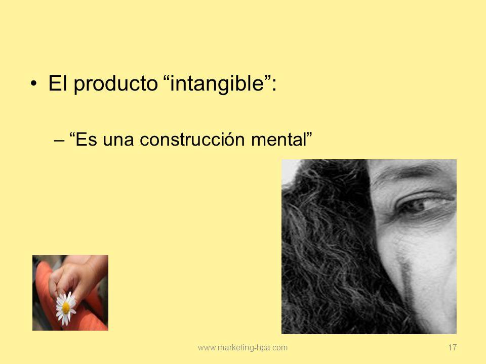 El producto intangible :