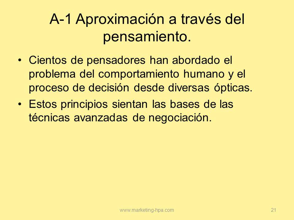 A-1 Aproximación a través del pensamiento.