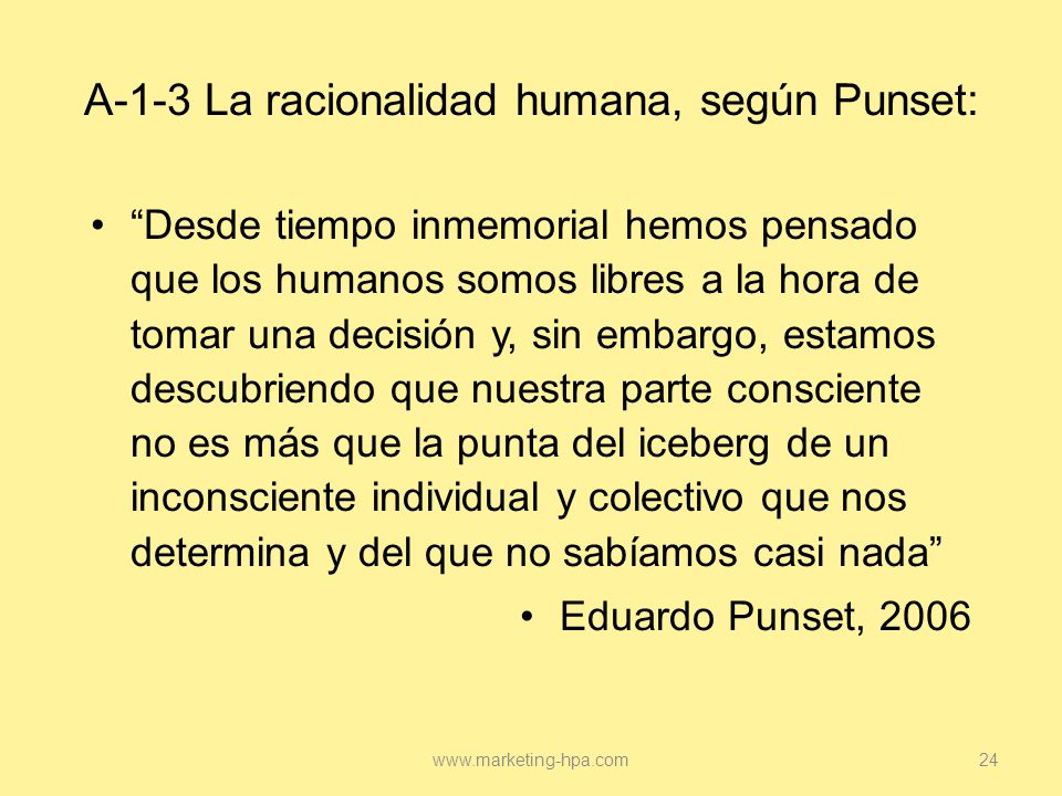A-1-3 La racionalidad humana, según Punset: