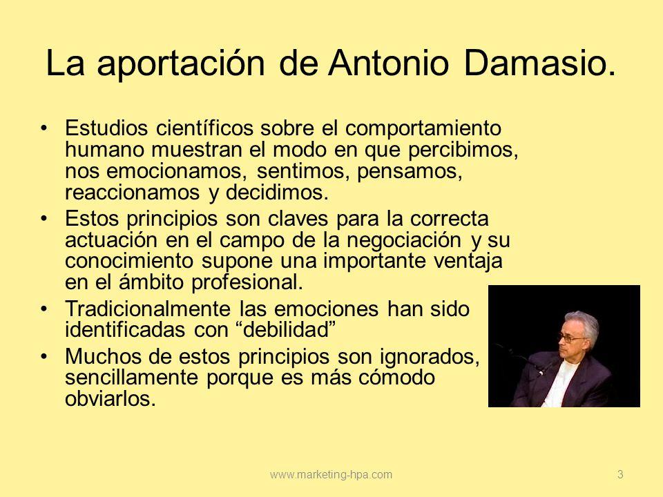 La aportación de Antonio Damasio.
