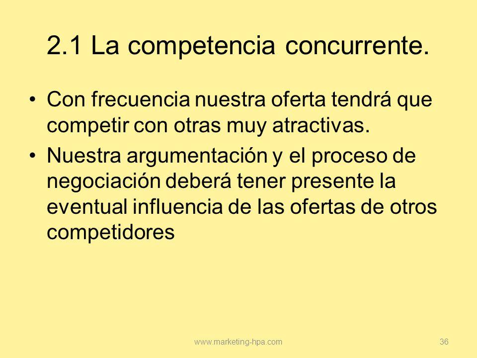 2.1 La competencia concurrente.