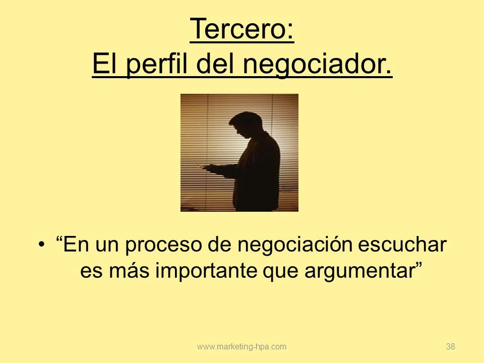 Tercero: El perfil del negociador.