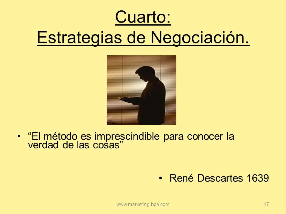 Cuarto: Estrategias de Negociación.