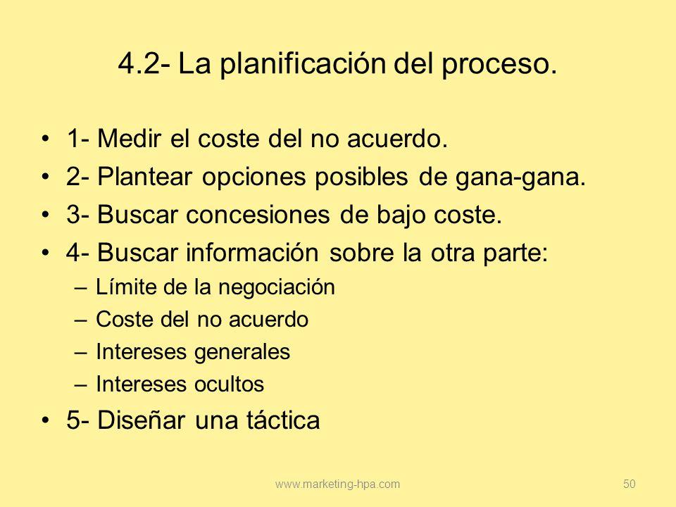 4.2- La planificación del proceso.