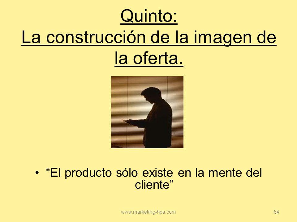 Quinto: La construcción de la imagen de la oferta.