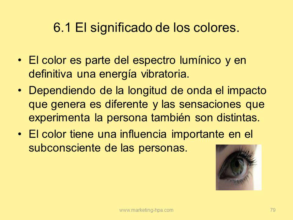 6.1 El significado de los colores.