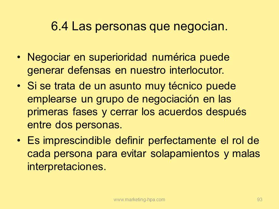 6.4 Las personas que negocian.