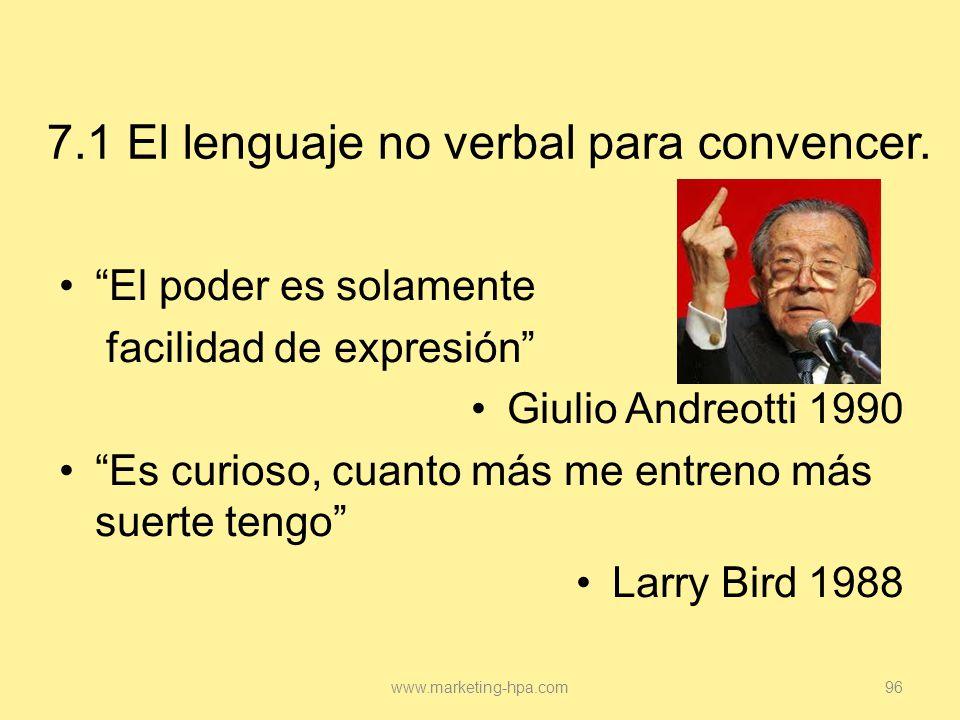 7.1 El lenguaje no verbal para convencer.