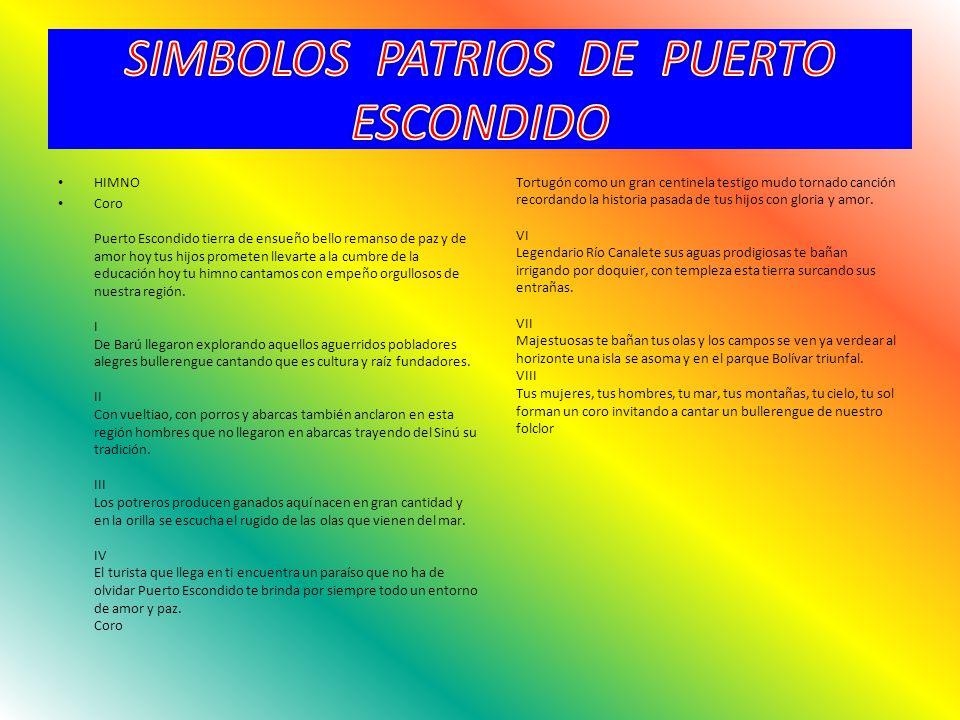 SIMBOLOS PATRIOS DE PUERTO ESCONDIDO