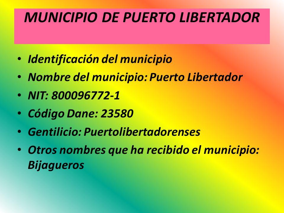MUNICIPIO DE PUERTO LIBERTADOR
