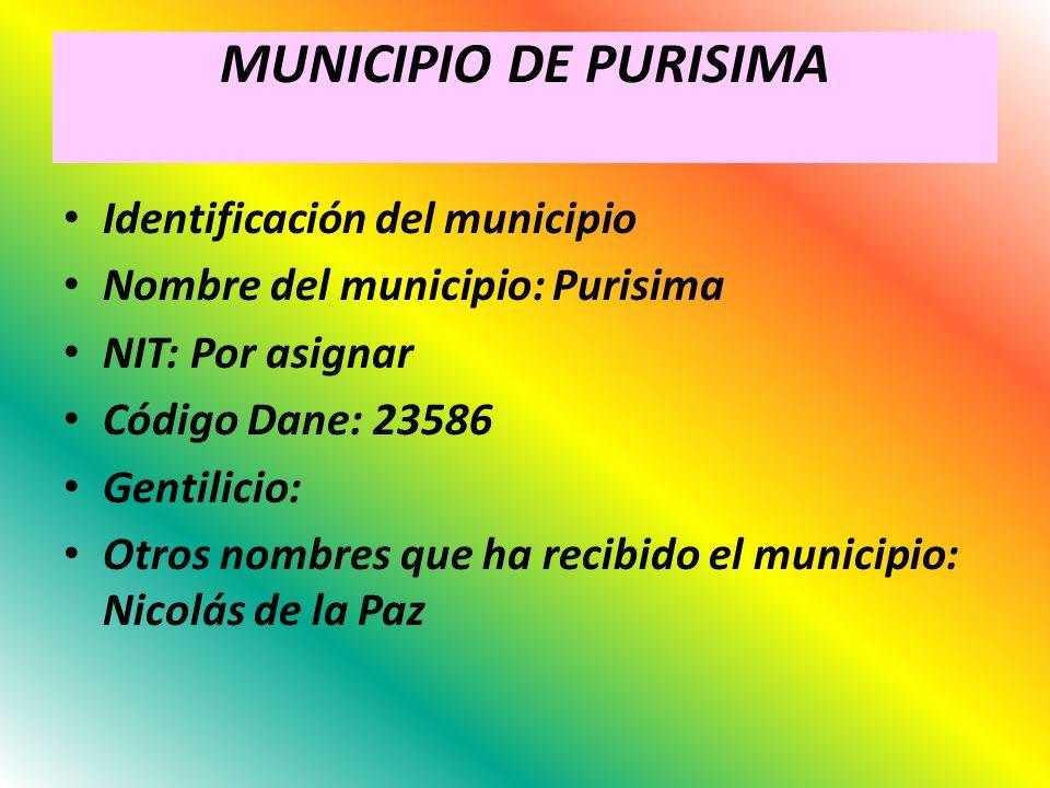 MUNICIPIO DE PURISIMA Identificación del municipio