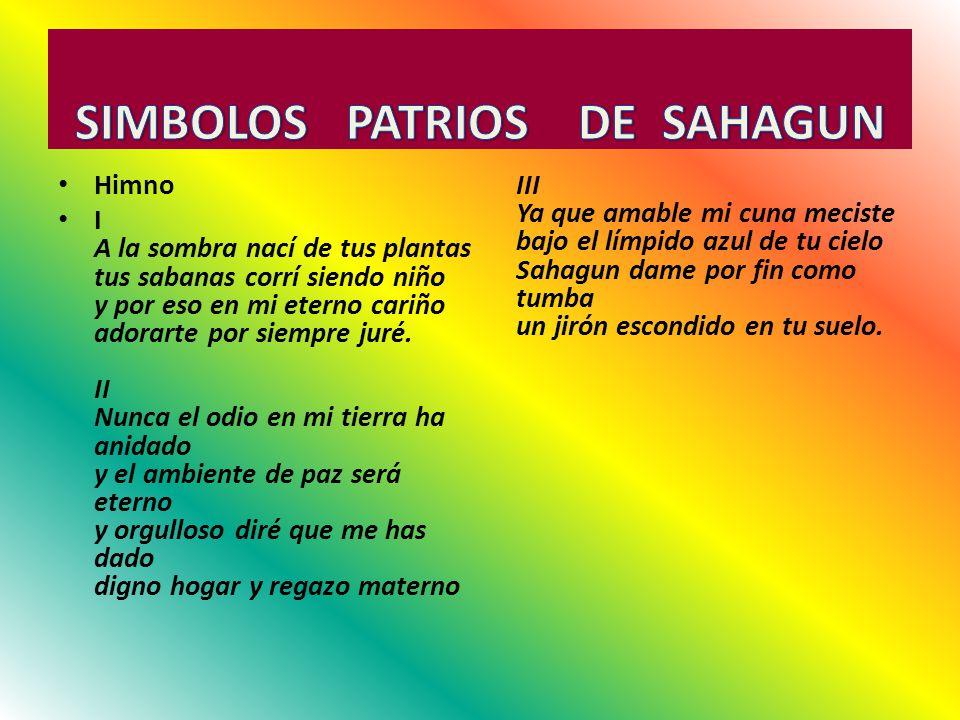 SIMBOLOS PATRIOS DE SAHAGUN