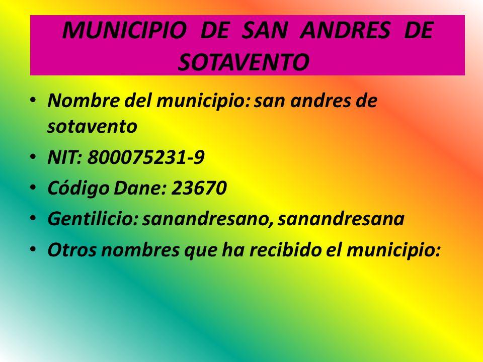 MUNICIPIO DE SAN ANDRES DE SOTAVENTO