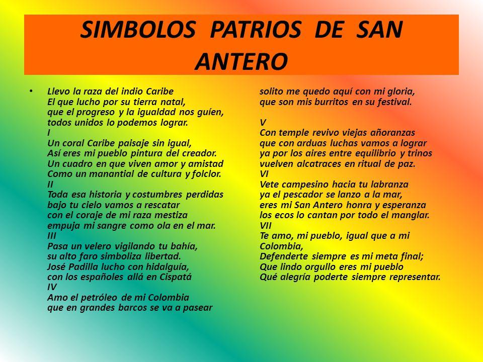 SIMBOLOS PATRIOS DE SAN ANTERO