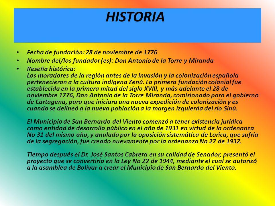HISTORIA Fecha de fundación: 28 de noviembre de 1776