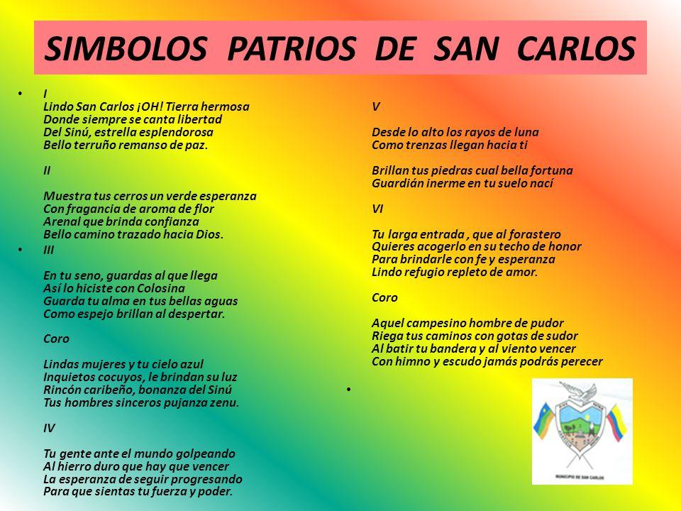 SIMBOLOS PATRIOS DE SAN CARLOS