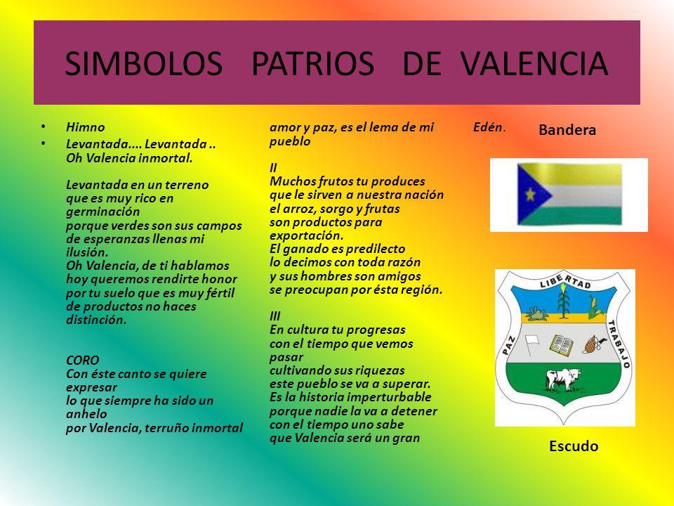 SIMBOLOS PATRIOS DE VALENCIA