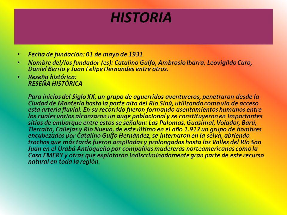 HISTORIA Fecha de fundación: 01 de mayo de 1931
