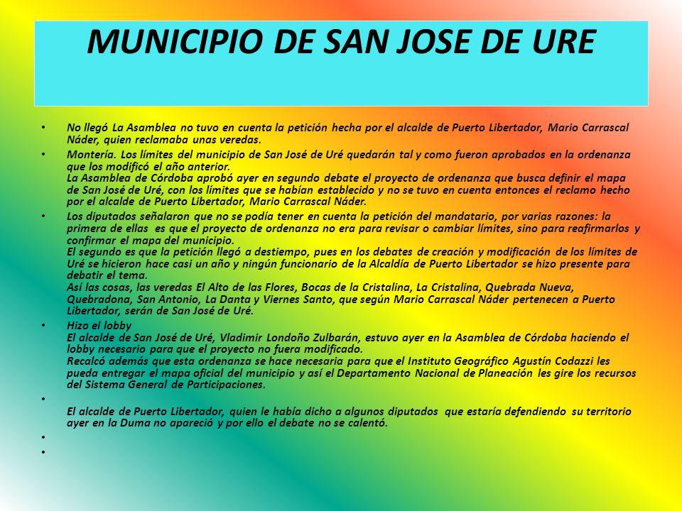 MUNICIPIO DE SAN JOSE DE URE