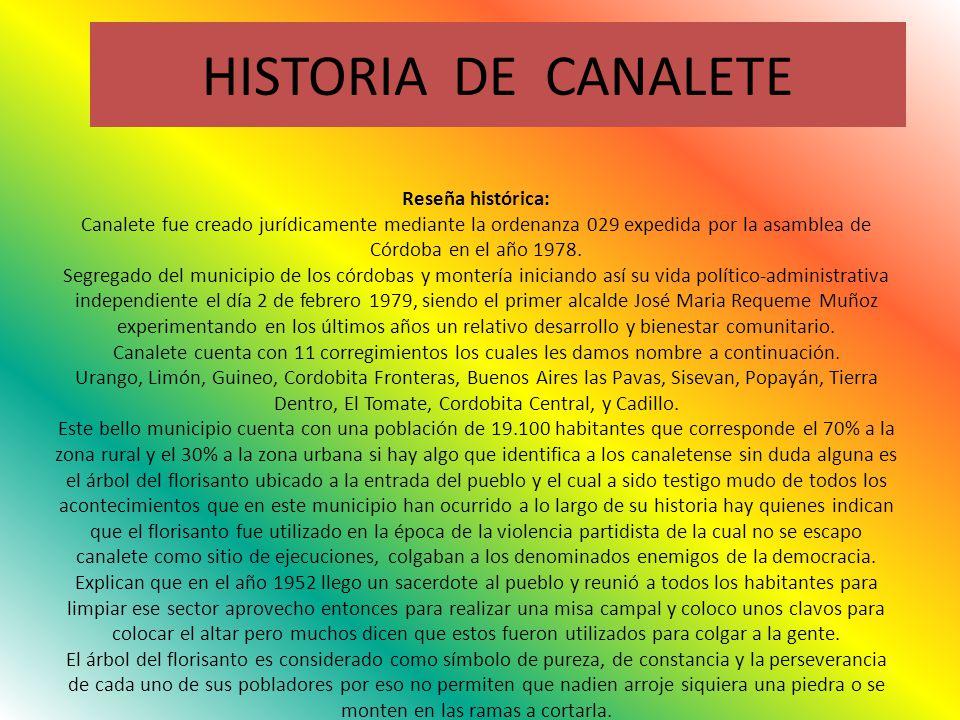 HISTORIA DE CANALETE