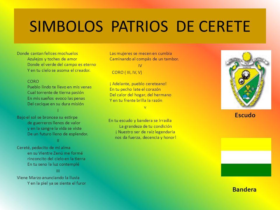 SIMBOLOS PATRIOS DE CERETE