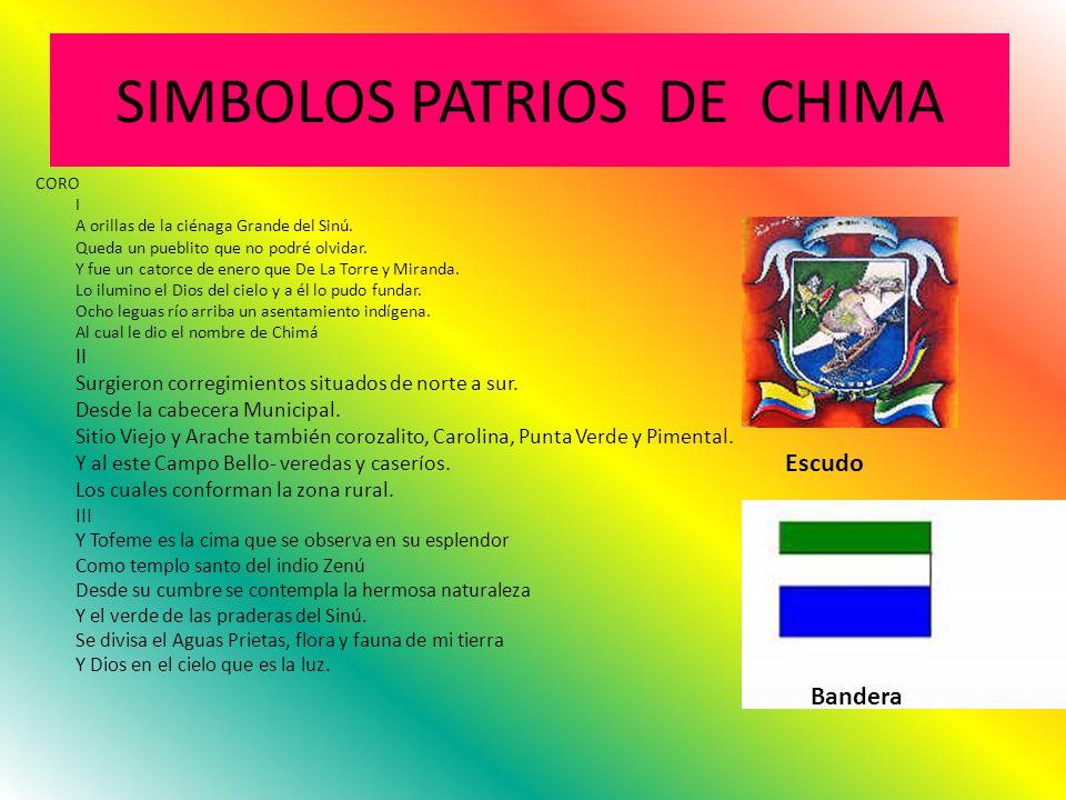 SIMBOLOS PATRIOS DE CHIMA