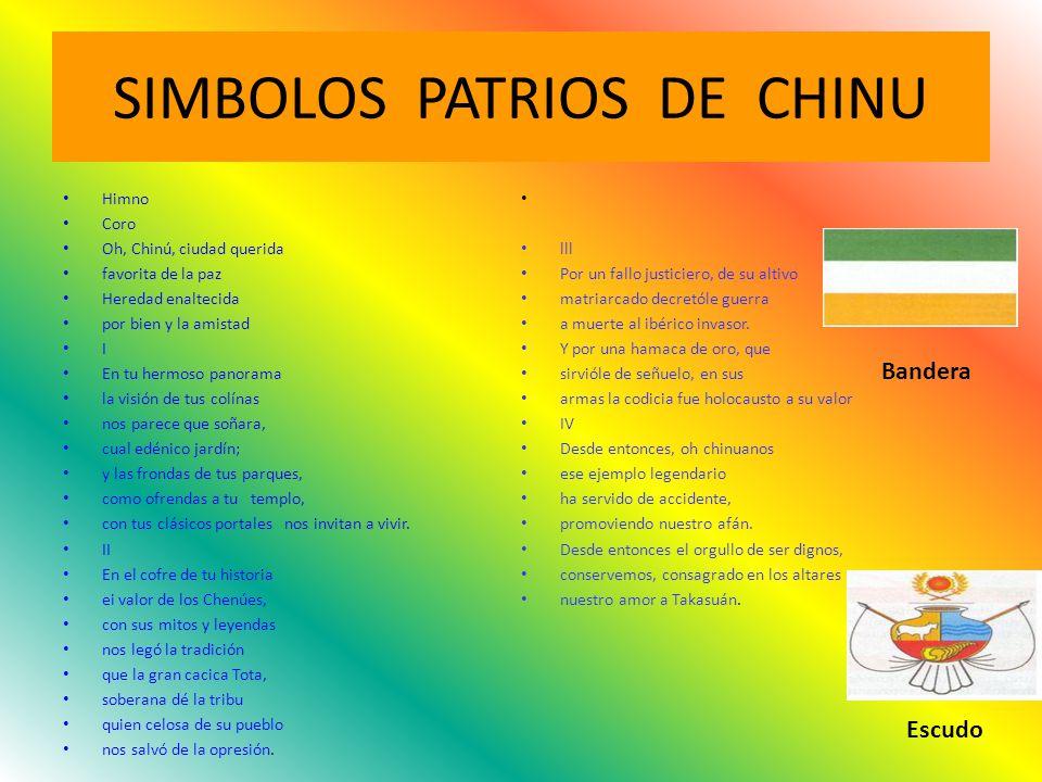 SIMBOLOS PATRIOS DE CHINU