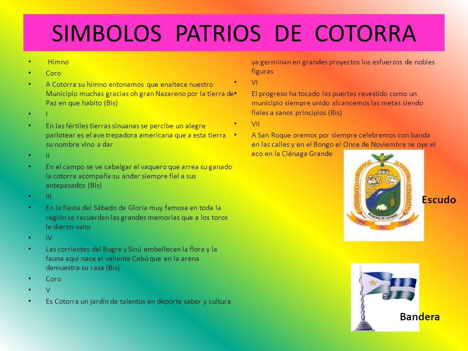 SIMBOLOS PATRIOS DE COTORRA