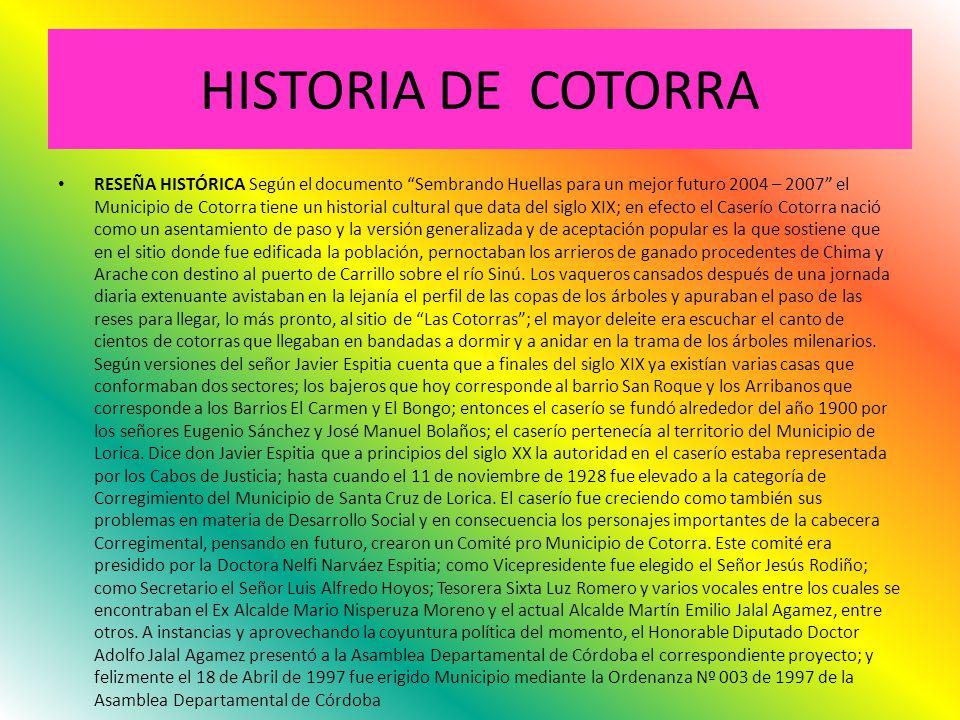 HISTORIA DE COTORRA