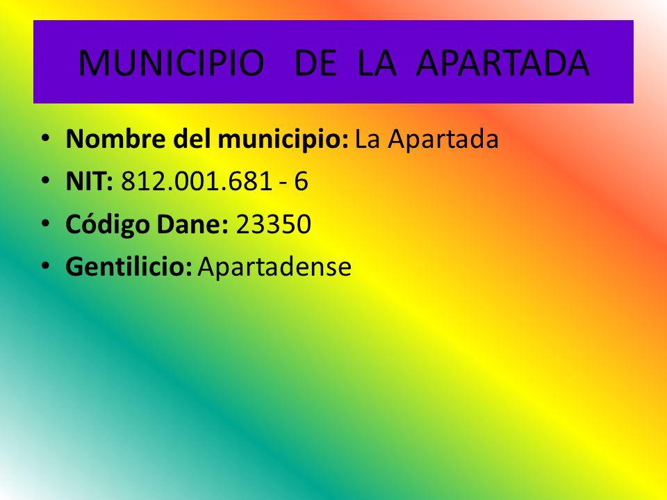 MUNICIPIO DE LA APARTADA