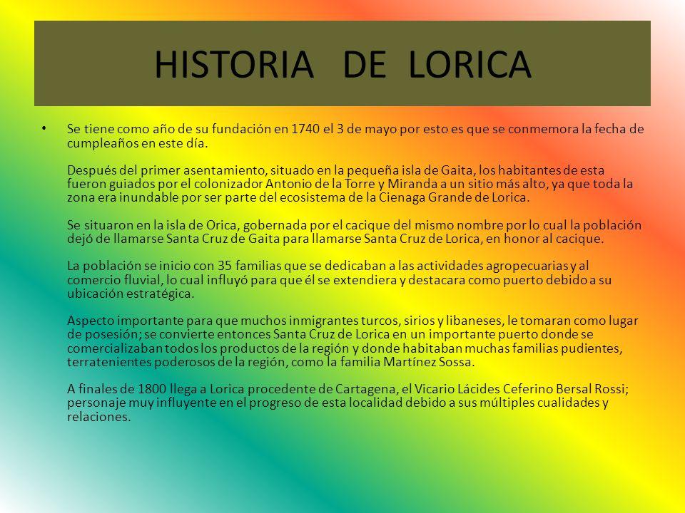 HISTORIA DE LORICA