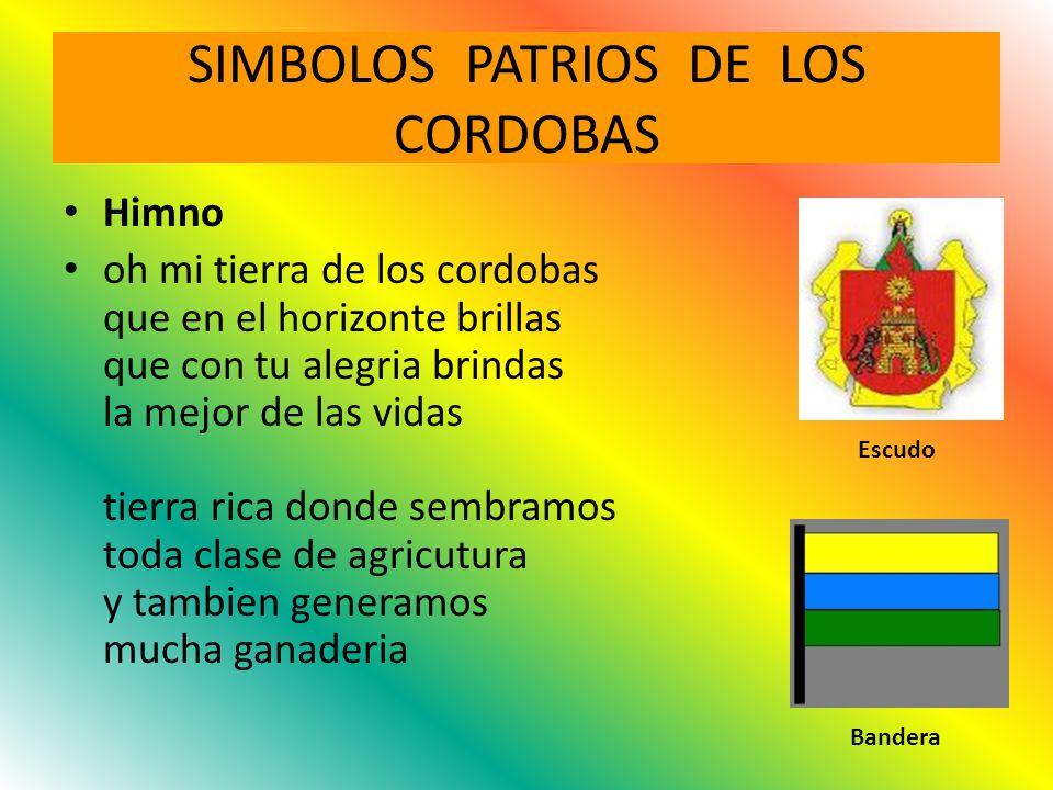 SIMBOLOS PATRIOS DE LOS CORDOBAS