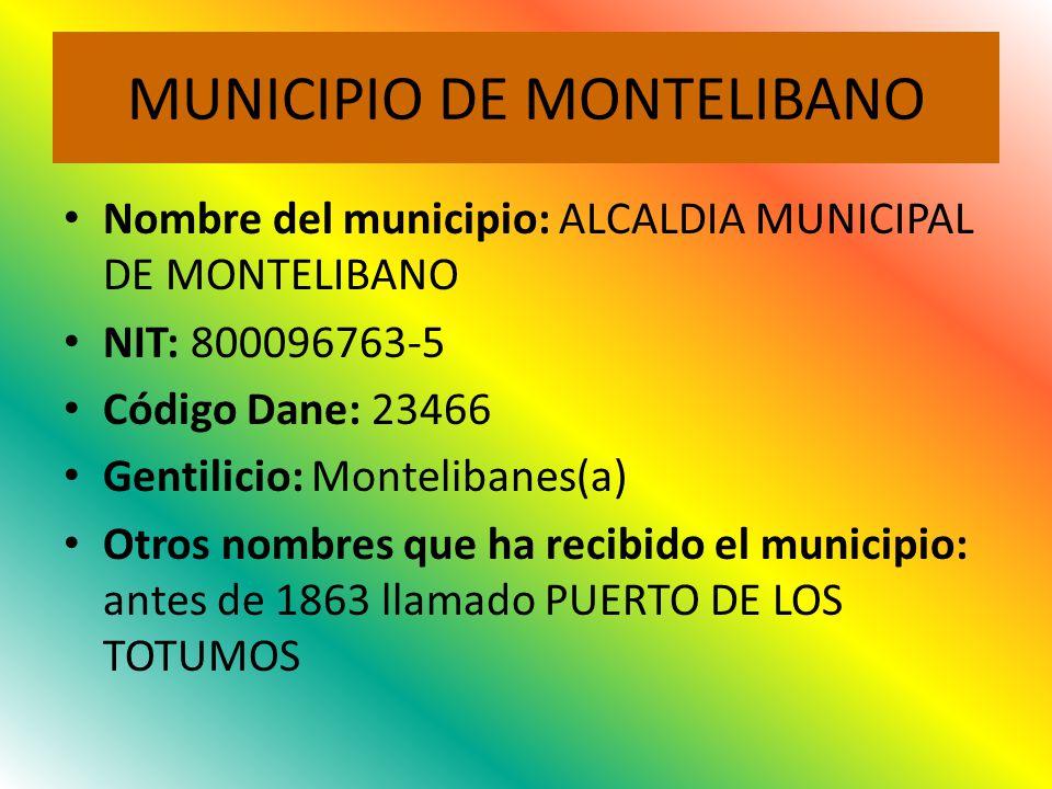 MUNICIPIO DE MONTELIBANO
