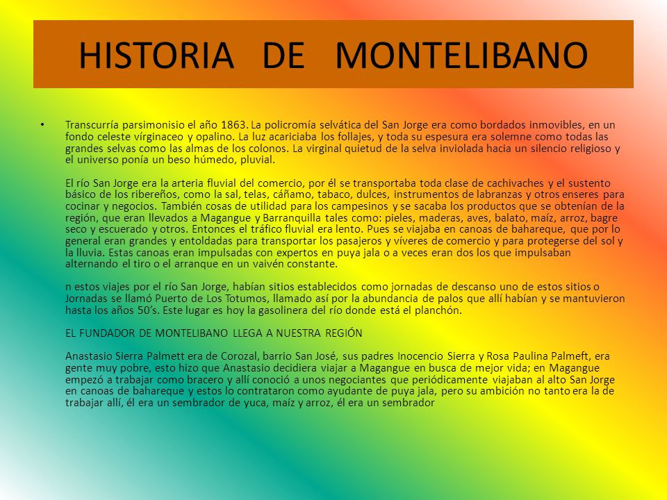 HISTORIA DE MONTELIBANO