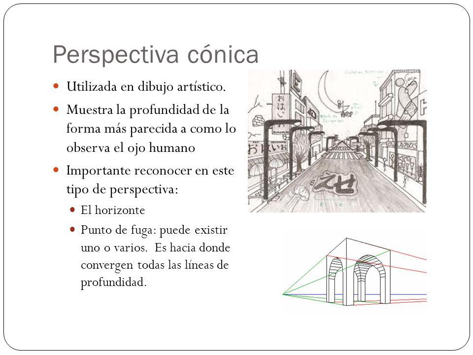 Perspectiva cónica Utilizada en dibujo artístico.