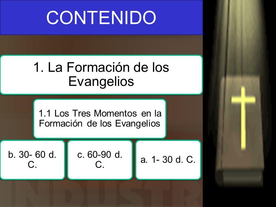 CONTENIDO 1. La Formación de los Evangelios