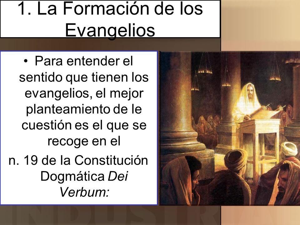 1. La Formación de los Evangelios