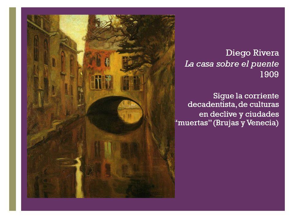 Diego Rivera La casa sobre el puente 1909