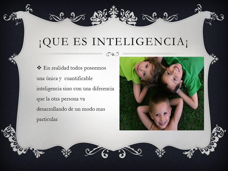 ¡Que es inteligencia¡