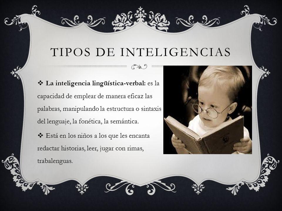 Tipos de inteligencias