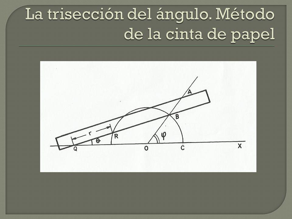 La trisección del ángulo. Método de la cinta de papel