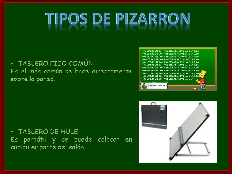 TIPOS DE PIZARRON TABLERO FIJO COMÚN
