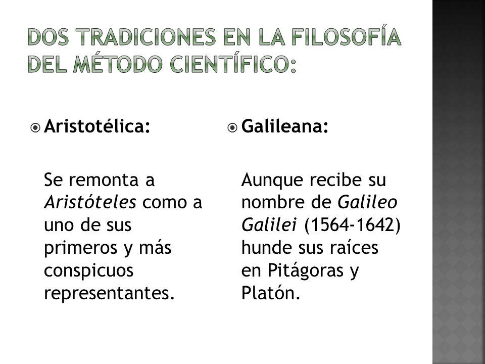 Dos tradiciones en la filosofía del método científico: