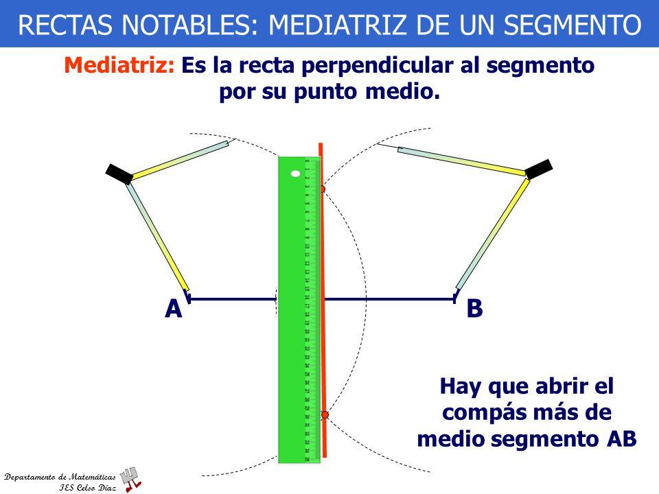 RECTAS NOTABLES: MEDIATRIZ DE UN SEGMENTO