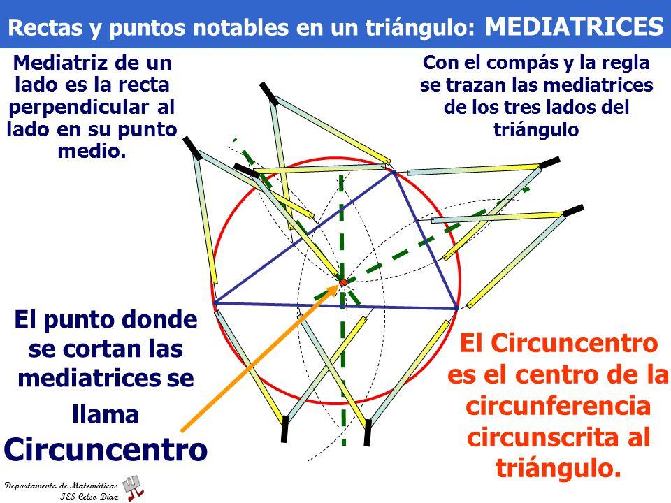 Rectas y puntos notables en un triángulo: MEDIATRICES