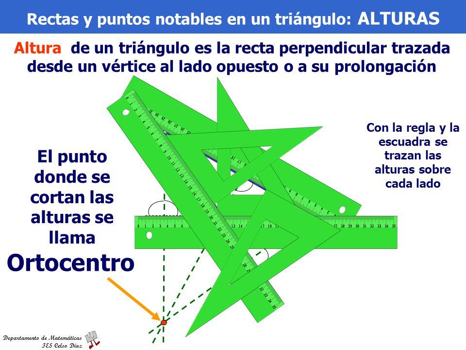 Ortocentro El punto donde se cortan las alturas se llama