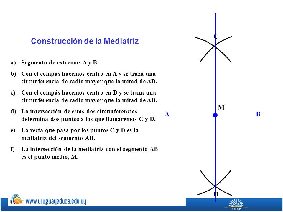 Construcción de la Mediatriz