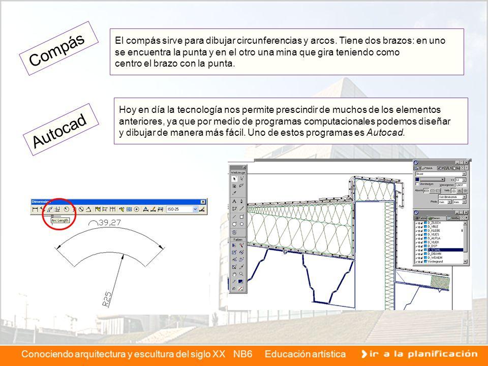 El compás sirve para dibujar circunferencias y arcos